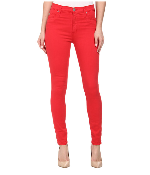 Hudson - Barbara High Waist Super Skinny Ankle Jeans in Larkspur Red (Larkspur Red) Women's Jeans