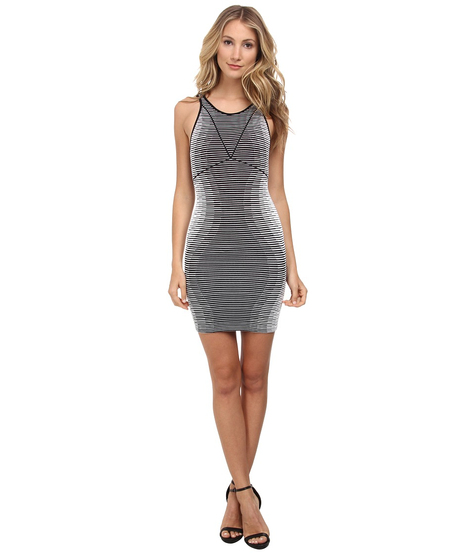 BCBGeneration - Hourglass Seamless Dress (White/Black) Women's Dress