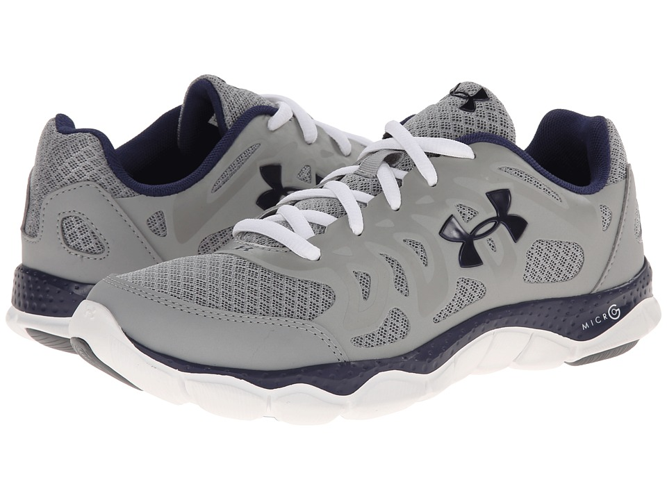 Under Armour - Micro G Engage (Steel/White/Navy) Women's Shoes