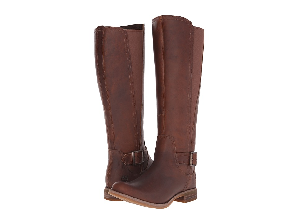 Timberland - Savin Hill Medium Shaft Tall Boot (Wheat Forty Leather) Women's Boots