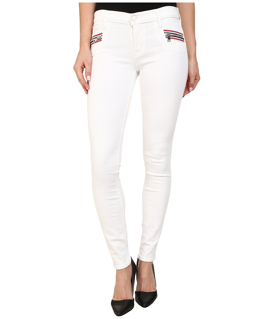 Hudson Custom Chimera Zipper Super Skinny Jeans in White 2 (White 2) Women