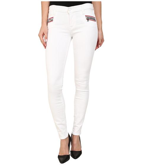 Hudson - Custom Chimera Zipper Super Skinny Jeans in White 2 (White 2) Women