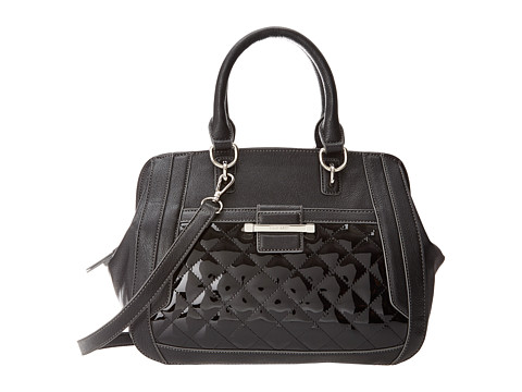 Nine West - Slice Of Spring Satchel (Black) Satchel Handbags