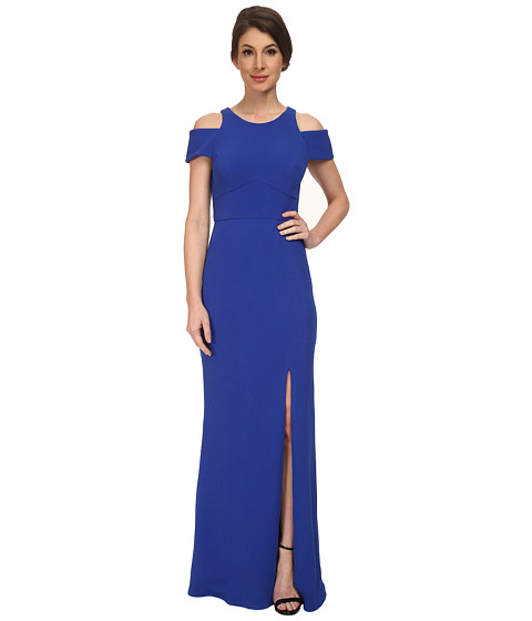 ABS Allen Schwartz - Cutout Shoulder Gown (Royal) Women