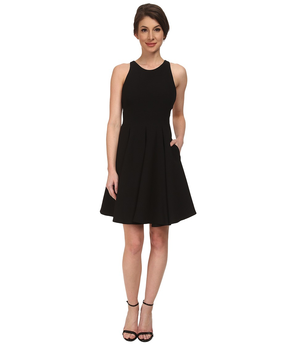 ABS Allen Schwartz Cocktail Dress w/ Lace Back (Black) Women