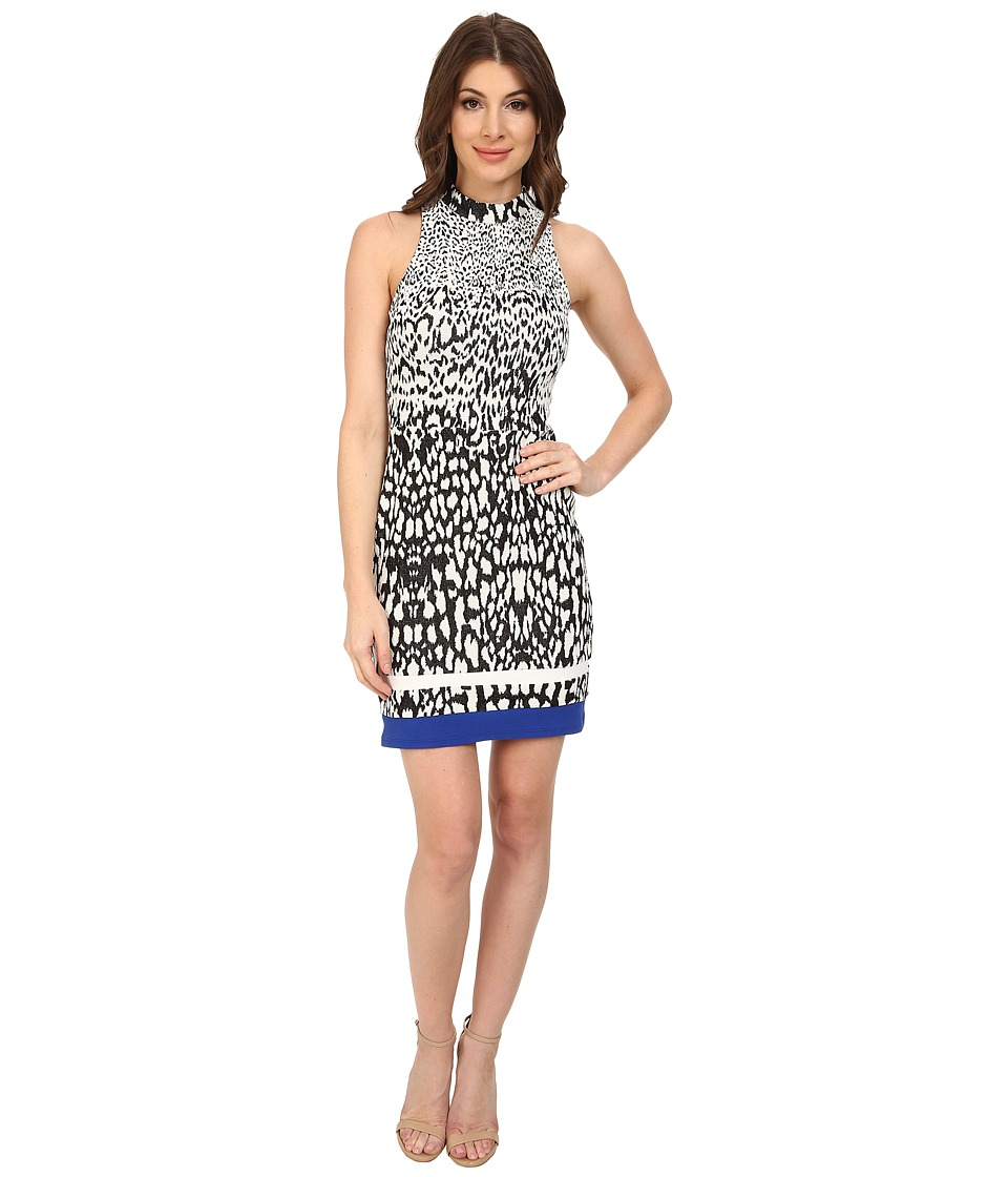 ABS Allen Schwartz Bodycon Sleeveless Dress (Black/Ivory) Women
