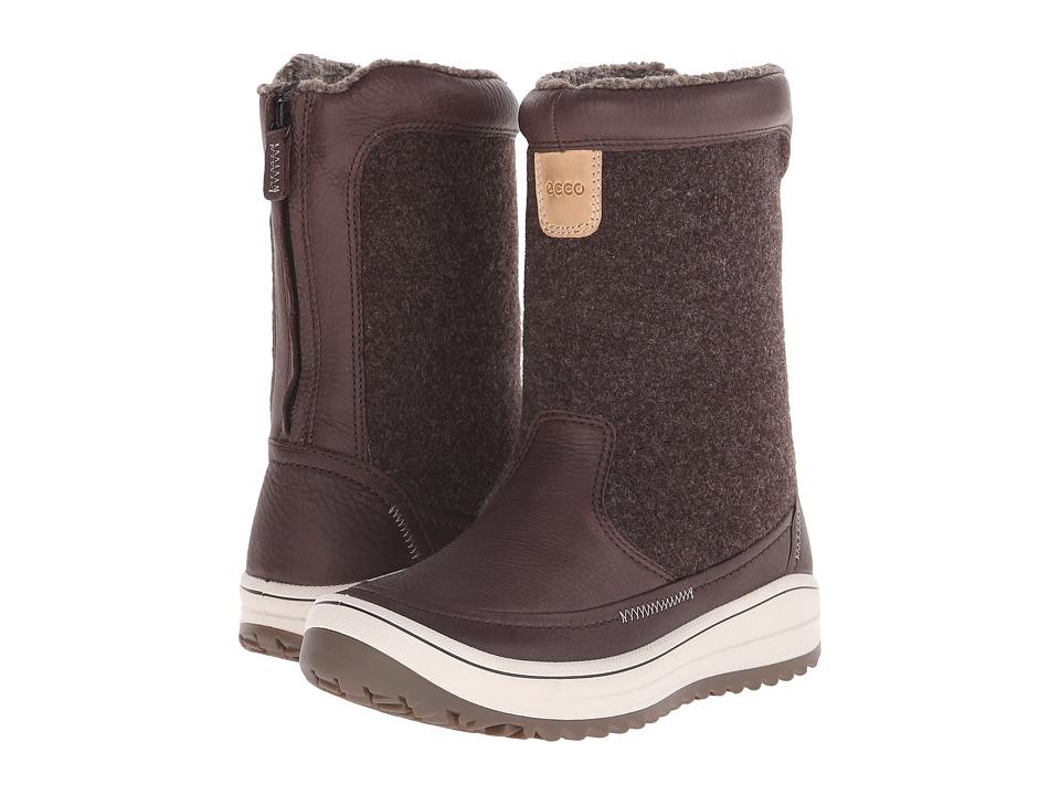 ECCO Sport - Trace Zip (Coffee/Coffee) Women's Boots