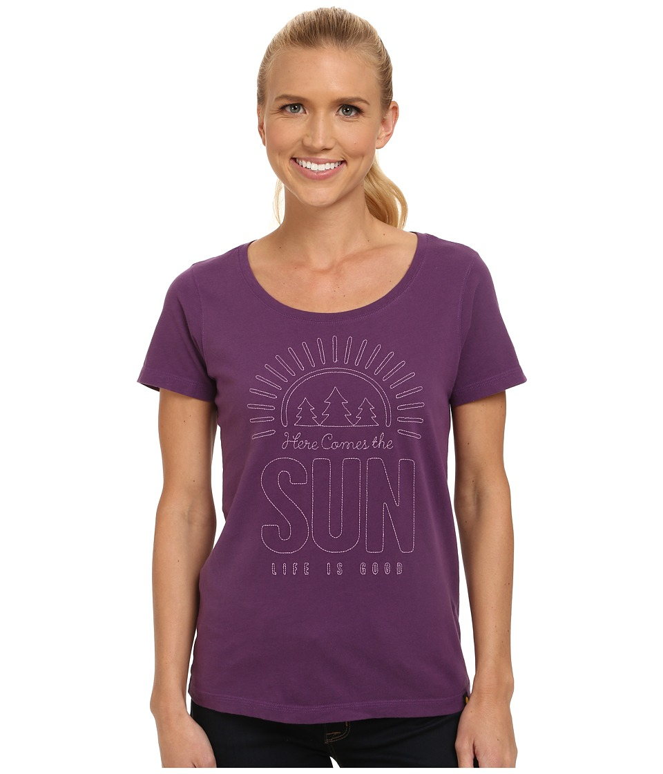 Life is good - Creamy Scoop Tee (Smoky Plum 1) Women