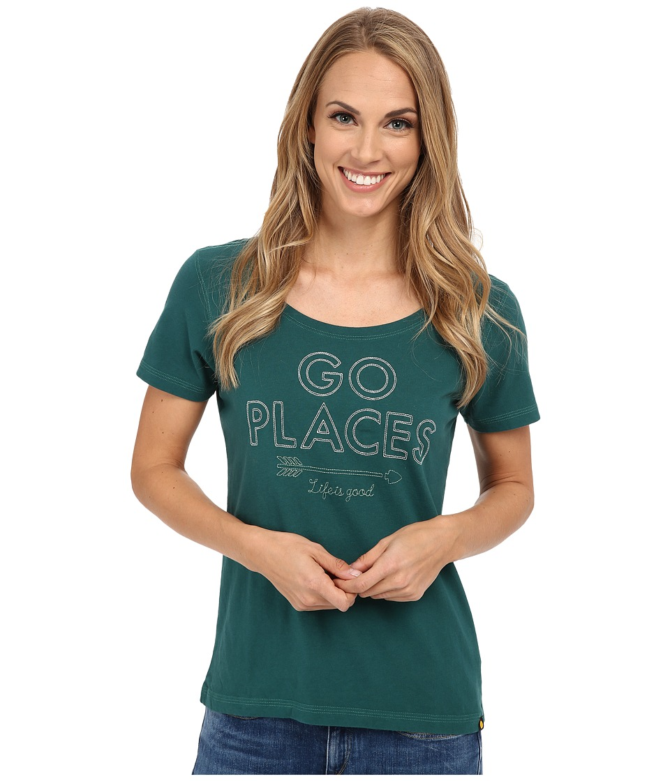 Life is good Creamy Scoop Tee (Hunter Green) Women