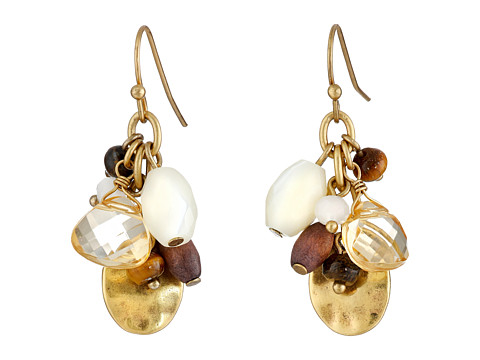 LAUREN by Ralph Lauren - Sandy Cay French Wire Multi Bead Cluster Drop Earrings (Dark Multi/Matte Gold) Earring