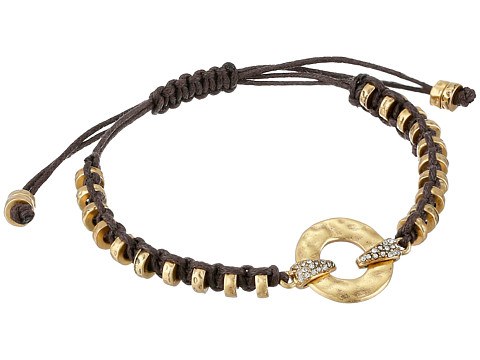 LAUREN by Ralph Lauren - Sandy Cay Cord w/ Hammered Metal w/ Button Closure Bracelet (Dark Multi/Matte Gold) Bracelet