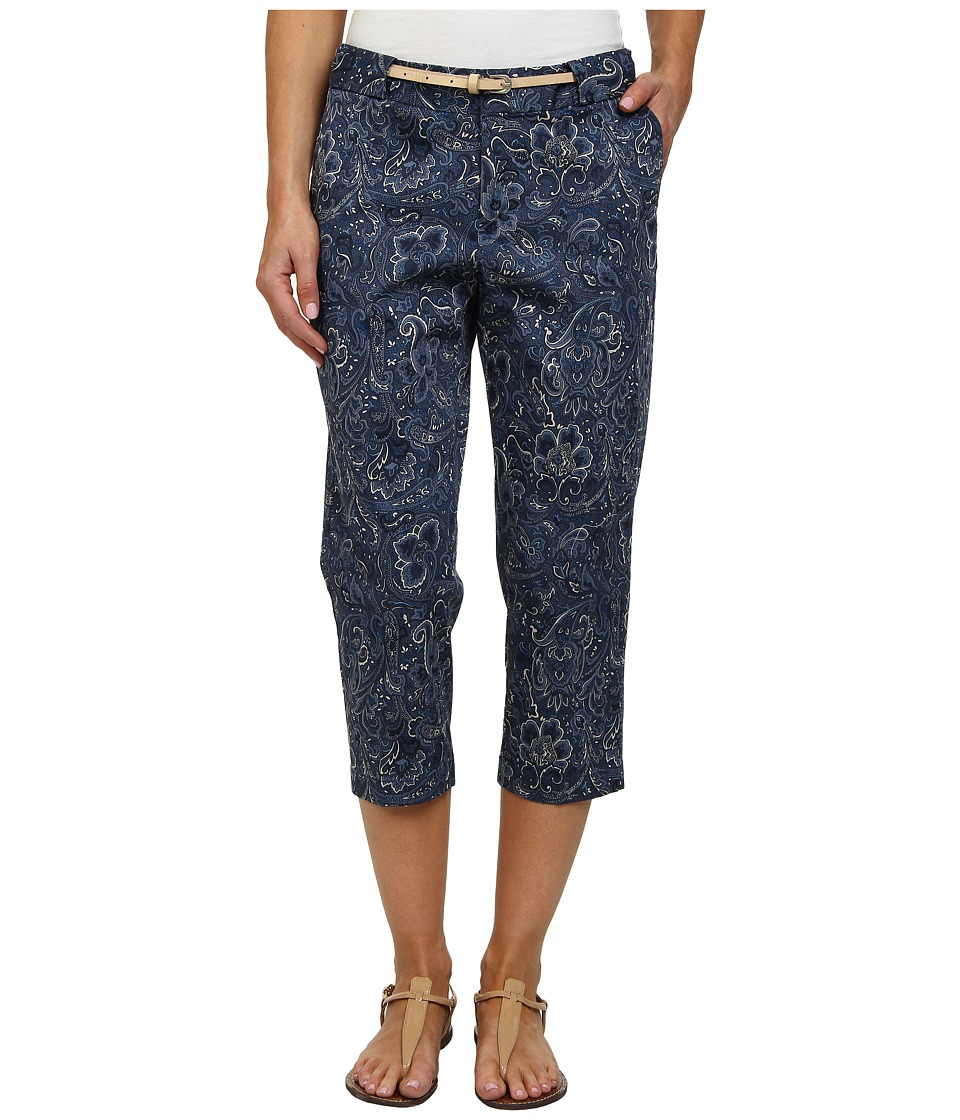 Dockers Misses - The Work Capris (Jessica Print/Carbon Blue) Women's Capri