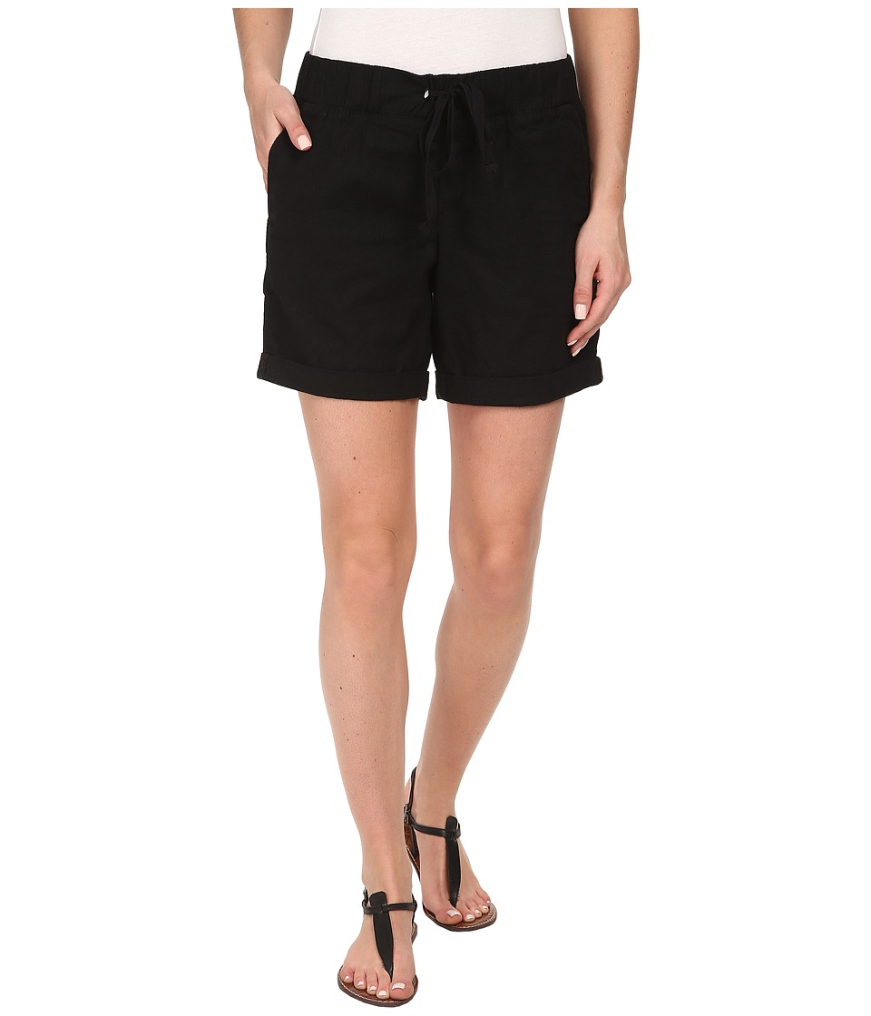 Dockers Misses - Linen Jogger Shorts (Black) Women's Shorts