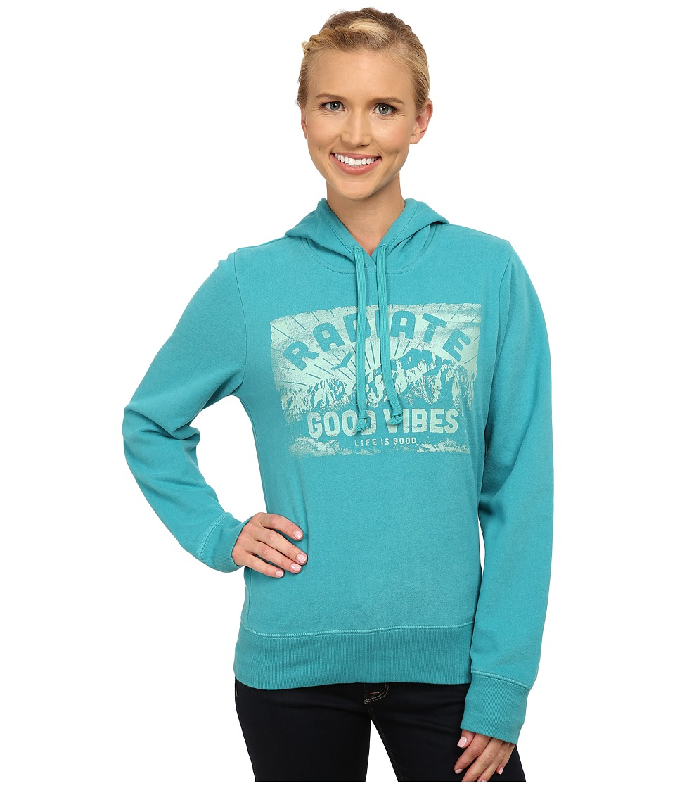 Life is good - Go-To Hoodie (Teal Blue) Women's Sweatshirt