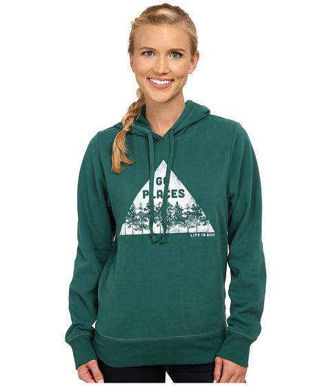 Life is good - Go-To Hoodie (Hunter Green 1) Women