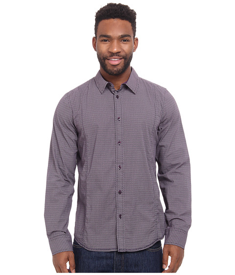 Prana - Lukas Shirt (Black Plum) Men's Long Sleeve Button Up