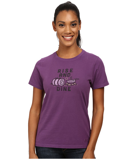 Life is good - Crusher Tee (Rise and Dine/Smoky Plum) Women's T Shirt