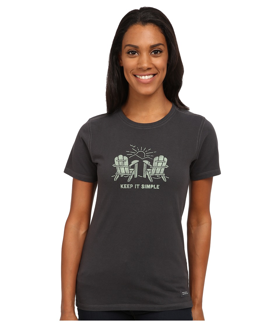 Life is good - Crusher Tee (Adirondacks Simple/Night Black) Women's T Shirt