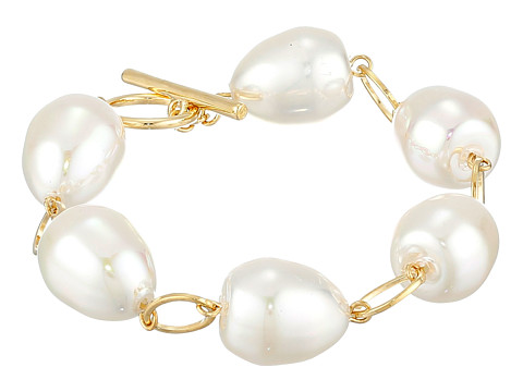 LAUREN by Ralph Lauren - Pretty In Pearls Rosary Linked Pearl w/ Ring Toggle Bracelet (Rose Gold) Bracelet