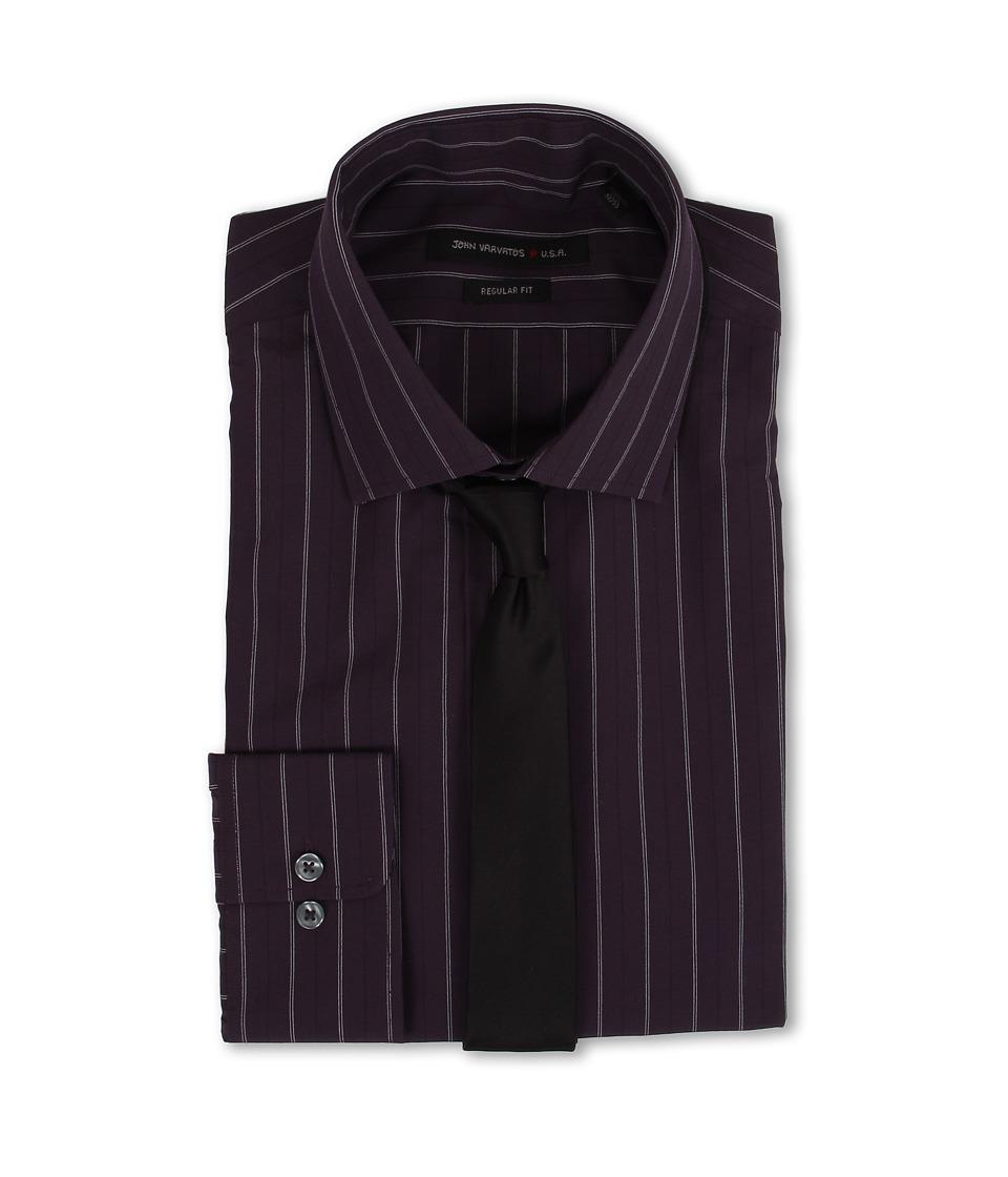 John varvatos regular fit stripe dress shirt dealtrend for Regular fit dress shirt