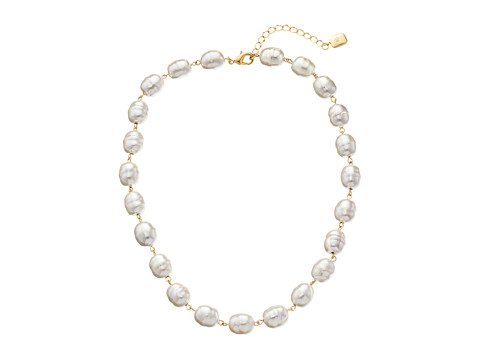LAUREN by Ralph Lauren - Pretty In Pearls 18 Rosary Linked Pearl w/ Lobster Closure Necklace (Pink Pearl/Gold) Necklace