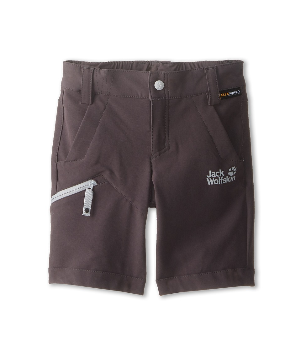 Jack Wolfskin Kids - Activate Soft Shell Shorts (Toddler/Little Kid/Big Kid) (Dark Steel) Kid's Shorts
