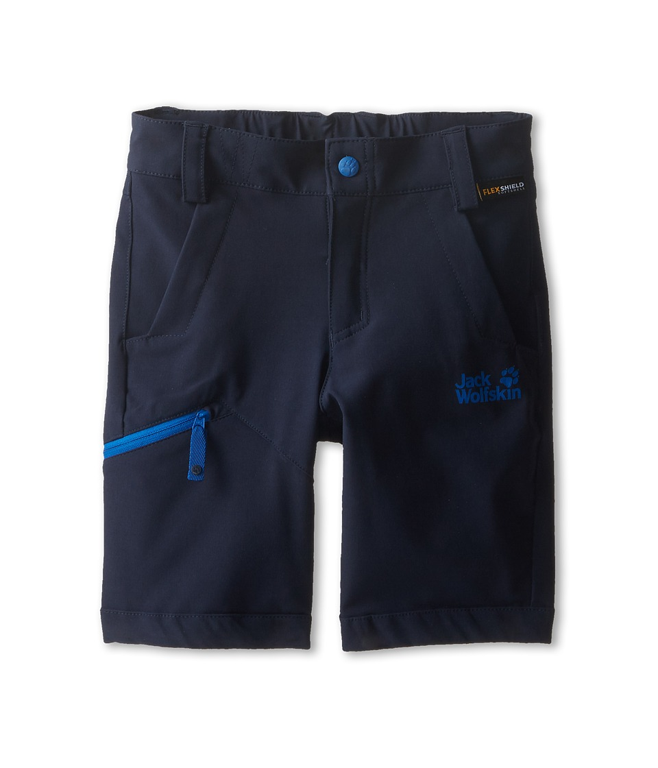 Jack Wolfskin Kids - Activate Soft Shell Shorts (Toddler/Little Kid/Big Kid) (Night Blue) Kid's Shorts