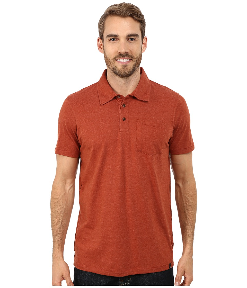 Prana - Marco Polo (Henna Heather) Men's Short Sleeve Pullover