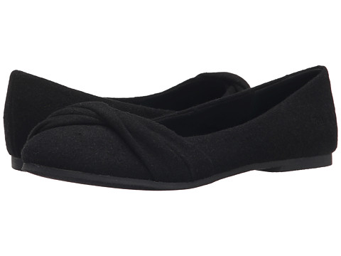 Blowfish - Nutty (Solid Black Two-Tone Flannel) Women's Flat Shoes