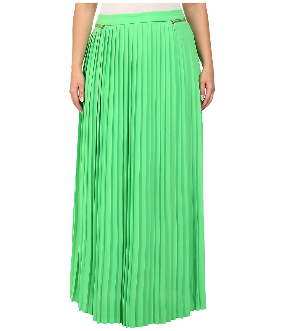 Mynt 1792 - Plus Size Pleated Maxi Skirt (Poison Green) Women