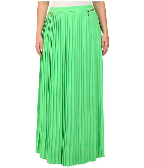 Mynt 1792 - Plus Size Pleated Maxi Skirt (Poison Green) Women's Skirt