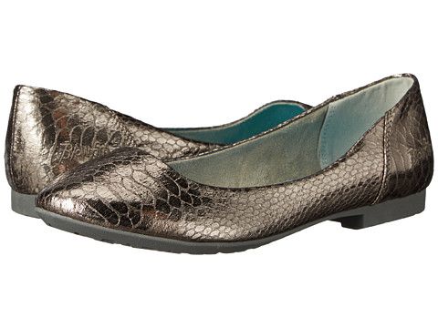 Blowfish - Roadie (Pewter Metallic Snakepit PU) Women's 1-2 inch heel Shoes