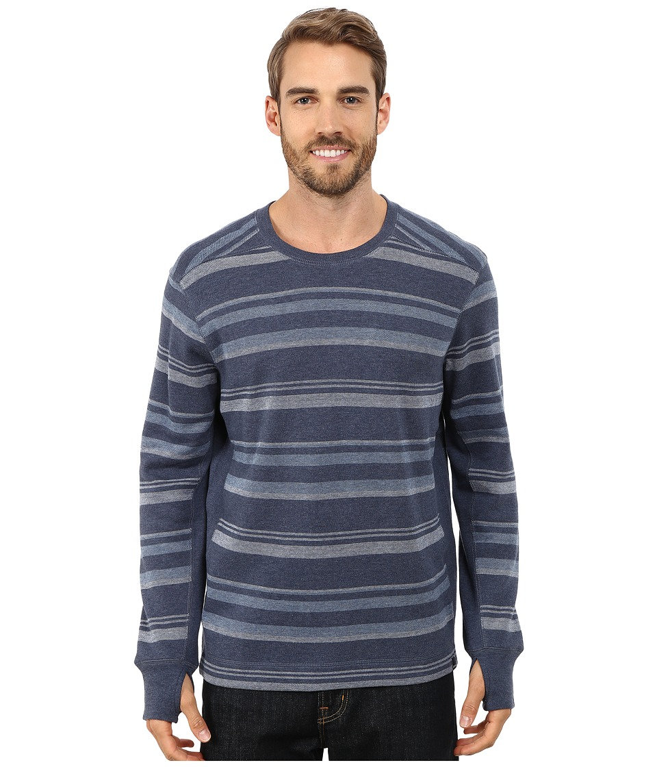 Prana - Driftwood L/S Crew (Blue Ridge) Men's Long Sleeve Pullover