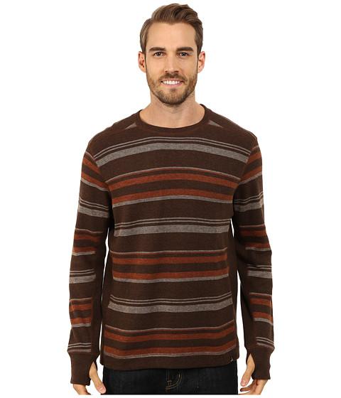 Prana - Driftwood L/S Crew (Henna) Men's Long Sleeve Pullover