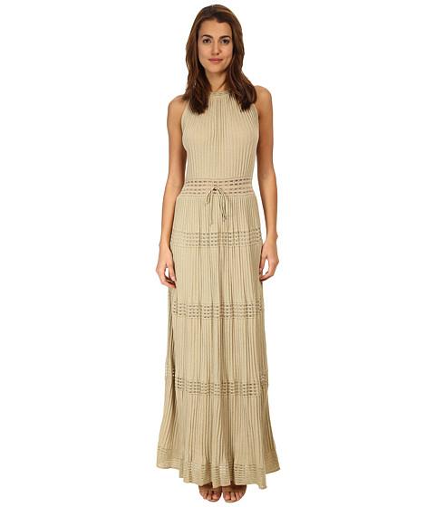 M Missoni - Lurex Long Gown (Gold) Women's Dress