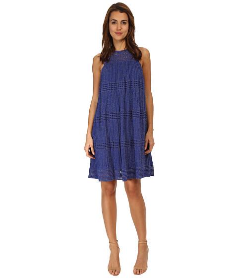 M Missoni - Lurex Plisse Dress (Royal) Women's Dress