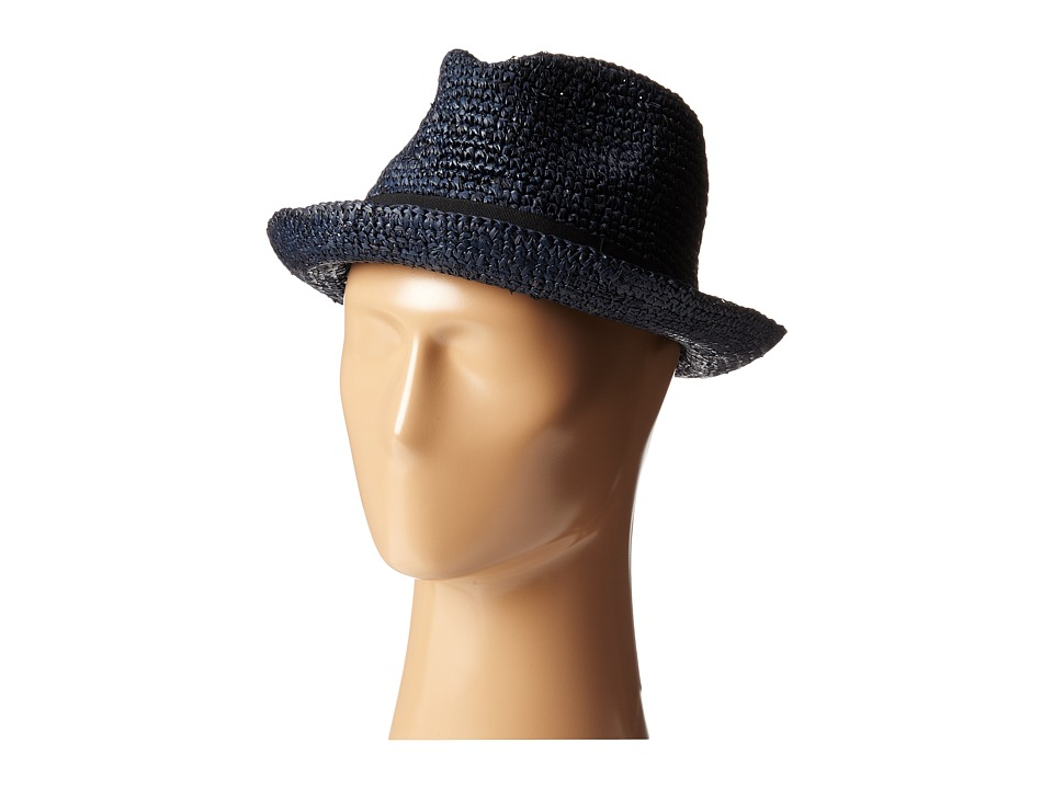 John Varvatos Star U.S.A. - Straw Fedora (Regal Blue) Fedora Hats