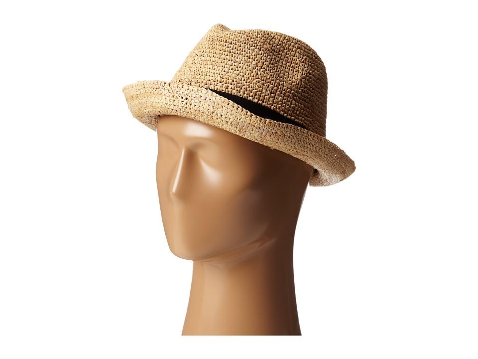 John Varvatos Star U.S.A. - Straw Fedora (Cork) Fedora Hats