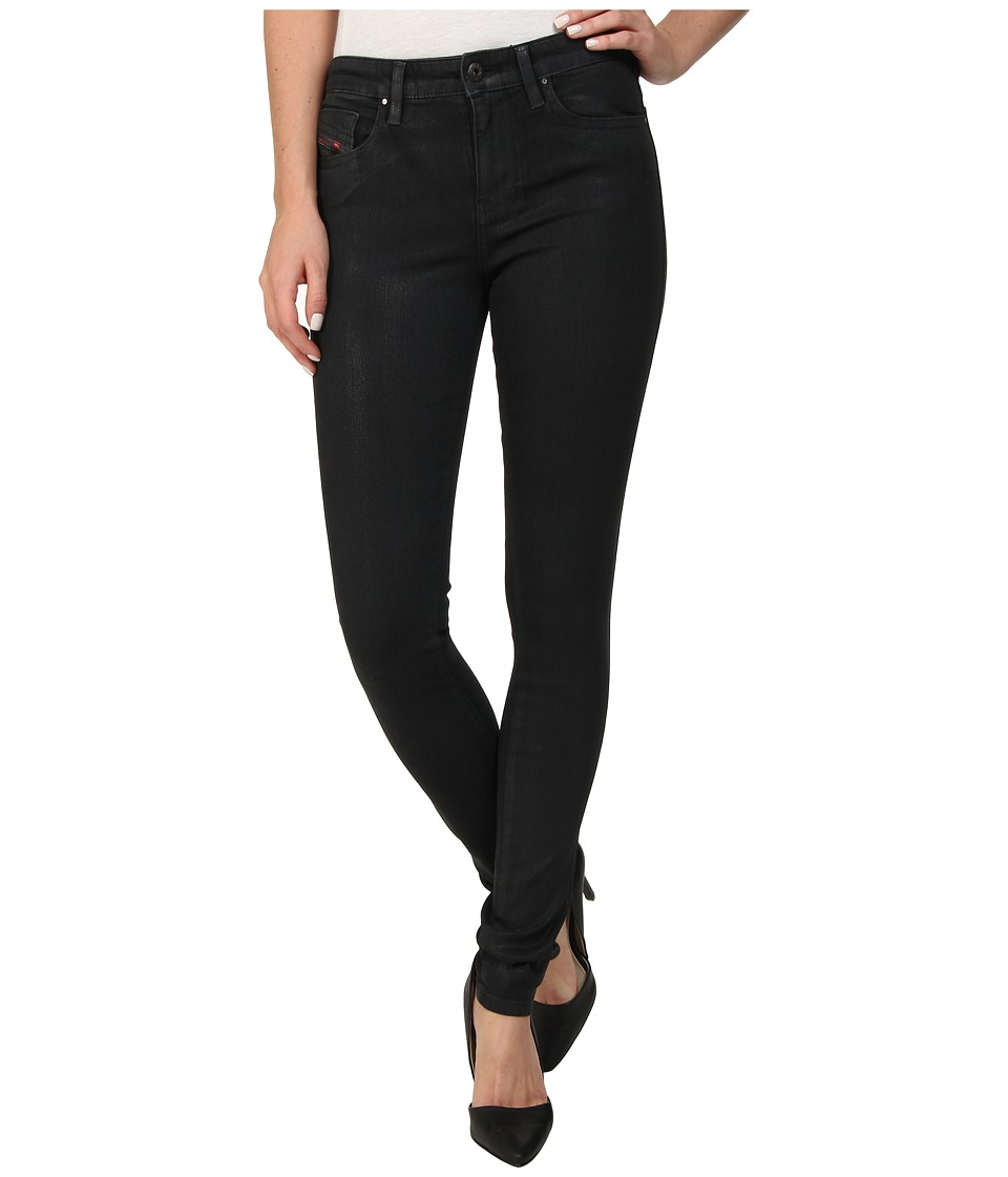 Diesel - Skinzee Super Skinny U807V (Black/Denim) Women's Jeans