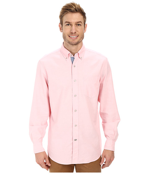 Nautica - Solid Oxford L/S Woven Shirt (Orchid Pink) Men