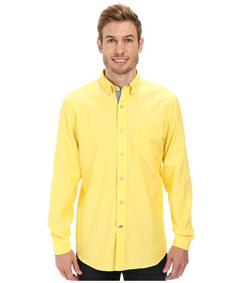 Nautica - Solid Oxford L/S Woven Shirt (Marigold Yellow) Men