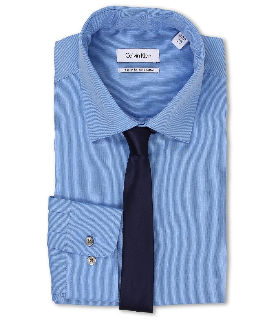 Calvin Klein - Regular Fit Tonal Stripe (Water) Men's Clothing