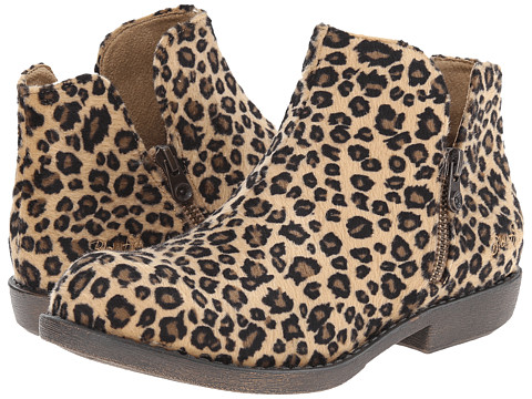 Blowfish - Alda (Tan Leopard Big Cat Print Fabric) Women's Zip Boots