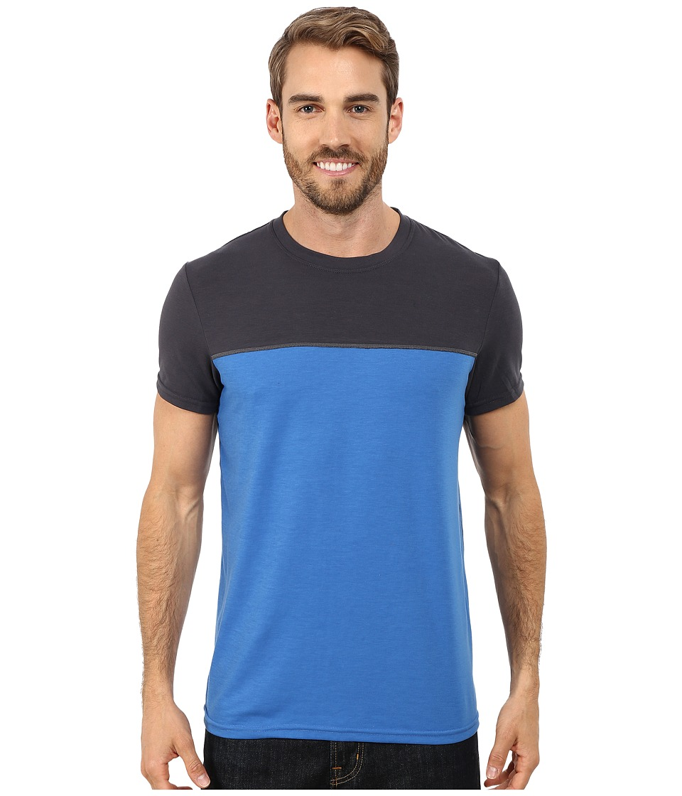 Prana - Ridge Tech Tee (Classic Blue) Men's Short Sleeve Pullover