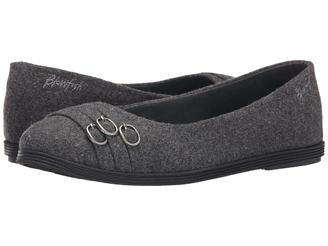 Blowfish - Grants (Grey Two-Tone Flannel) Women's Flat Shoes