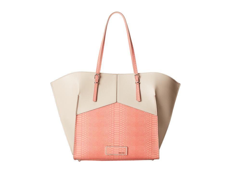Nine West - Helena Large Tote (Casa Coral Multi) Tote Handbags