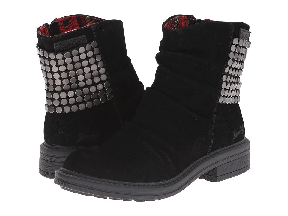 Blowfish - Frankie (Black Fawn PU) Women's Zip Boots