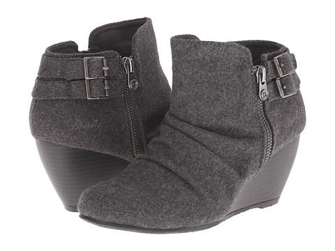 Blowfish - Bae (Grey Two-Tone Flannel) Women's Zip Boots