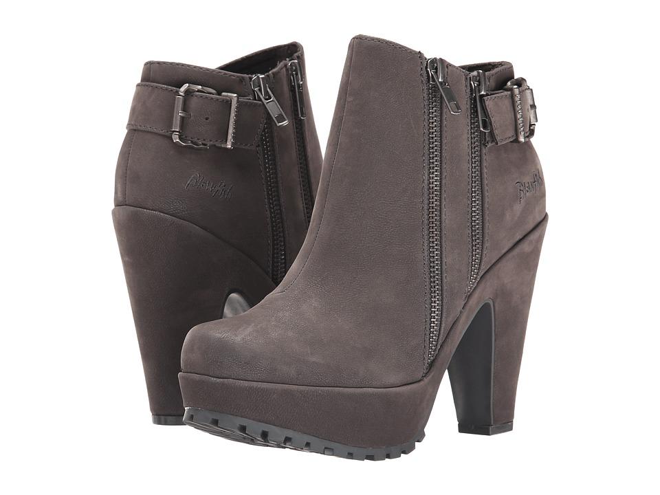Blowfish - Vania (Grey Fawn PU) Women's Zip Boots