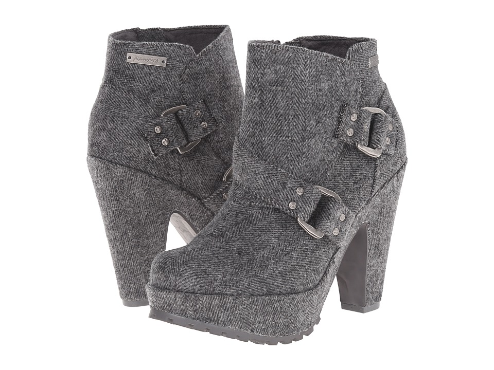 Blowfish - Verena (Grey Soft Herringbone Flannel) Women's Zip Boots